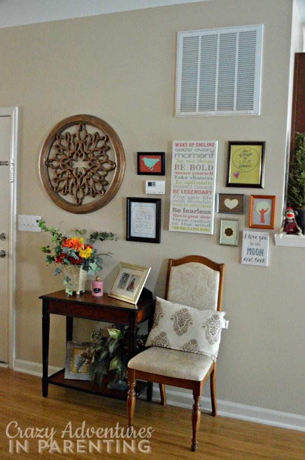 living room decorative wall