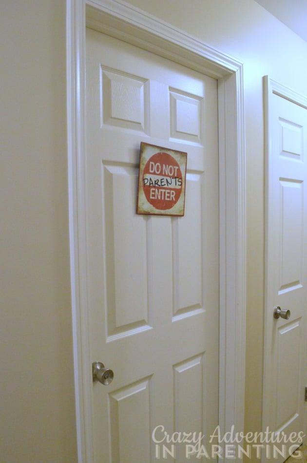 oldest son's bedroom door