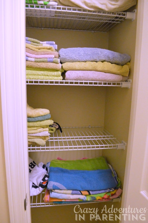 second hall closet - towels