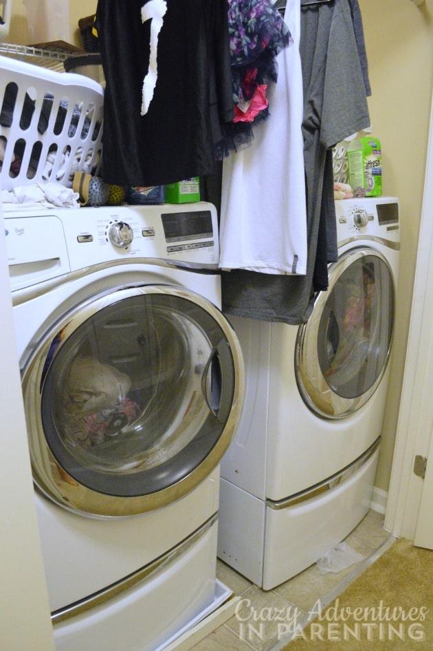 third hall closet - laundry room upstairs