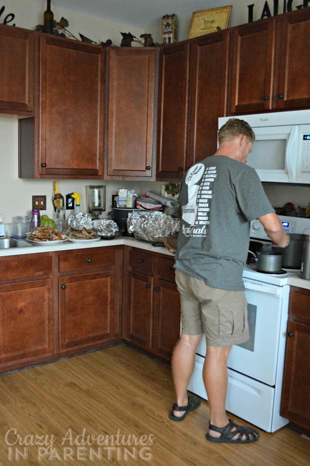 new kitchen dinner mess
