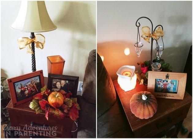 Halloween decor end tables