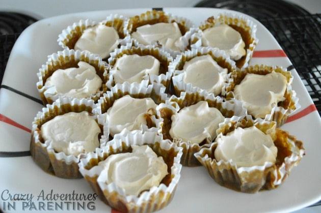 Pumpkin Pie Cupcakes ready to eat