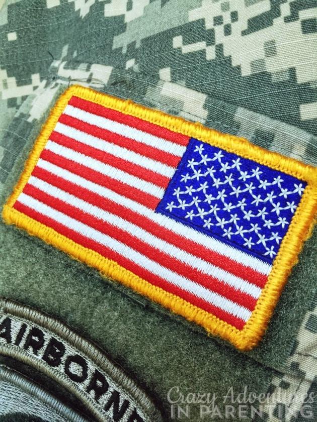 flag patch on Army uniform