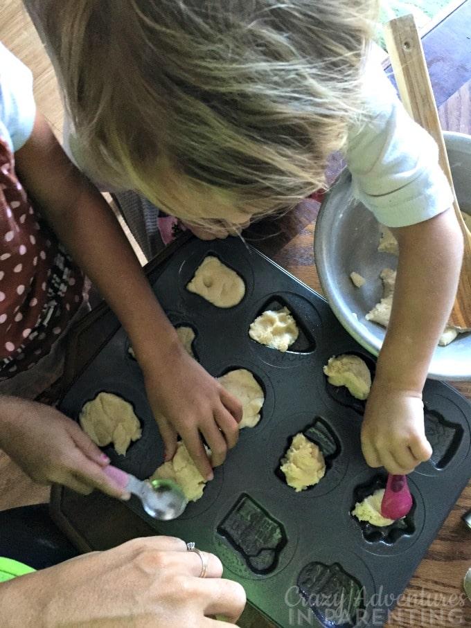 making Halloween cookies