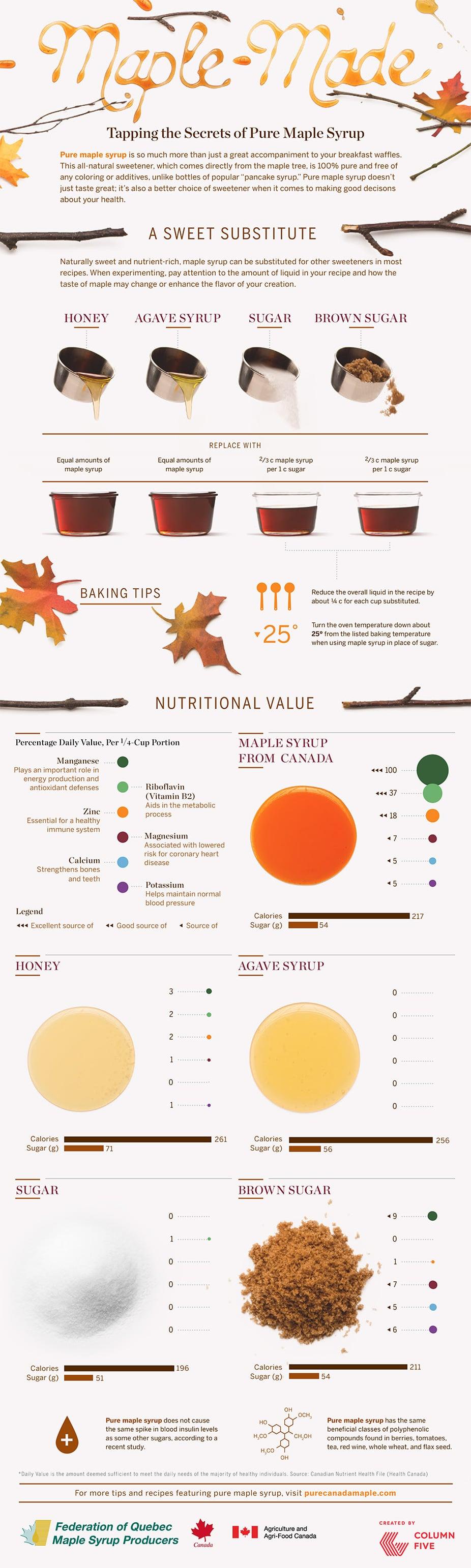 maple sugar alternative infographic