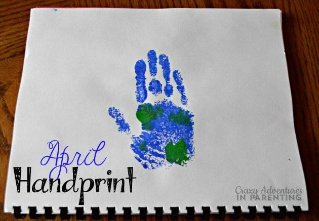 April Handprint Calendar : Handprint calendar homemade gift ideas kids can make