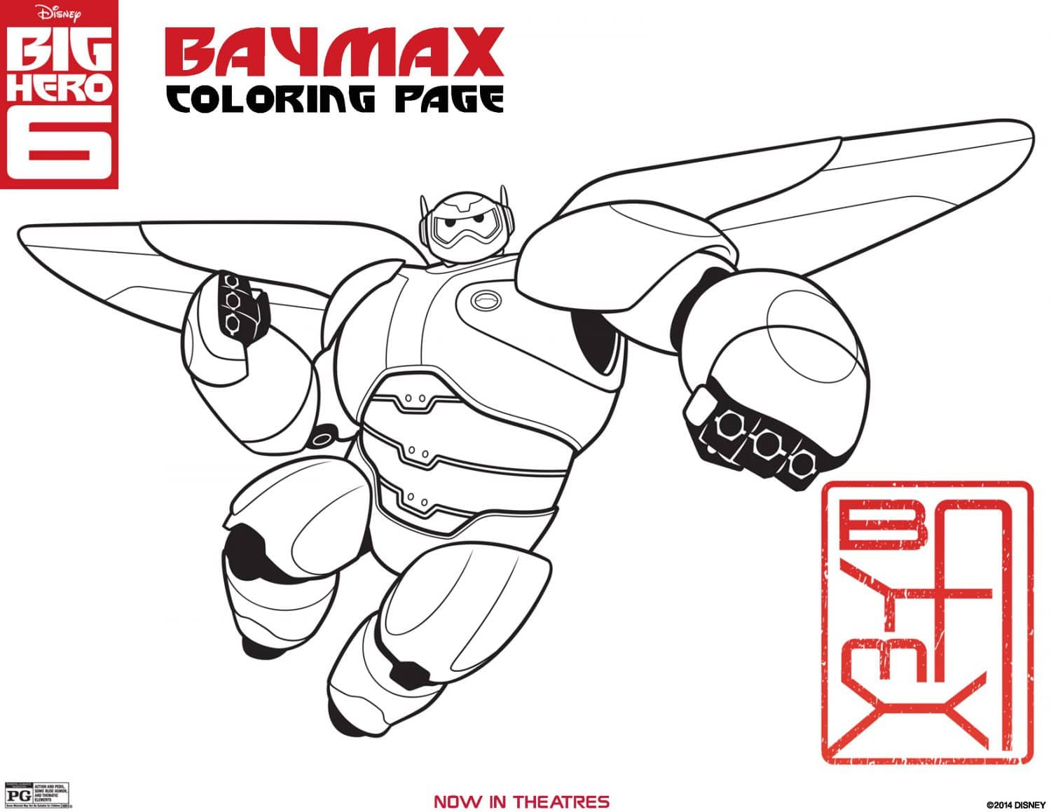 Big Hero 6 coloring page Baymax