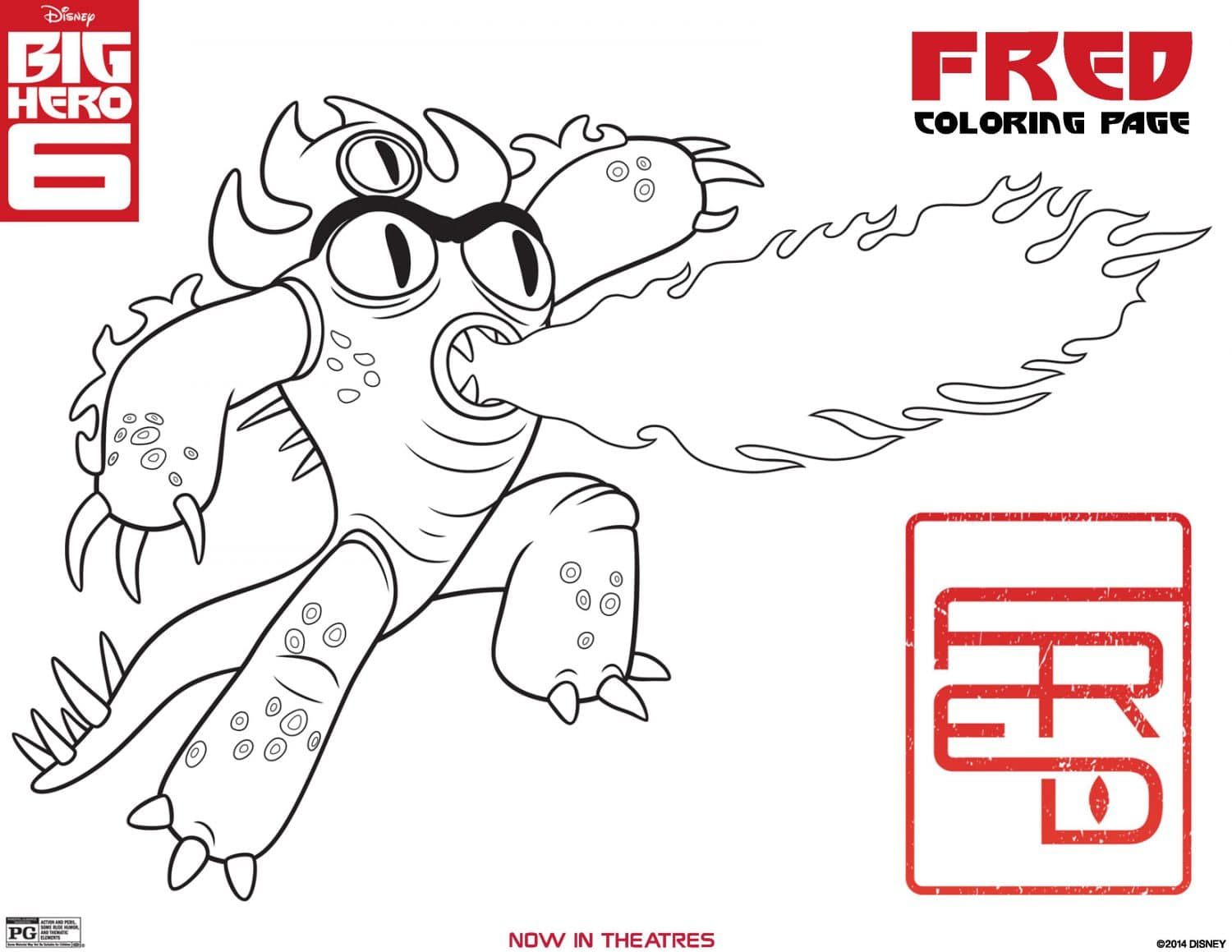 Big hero 6 coloring page fred