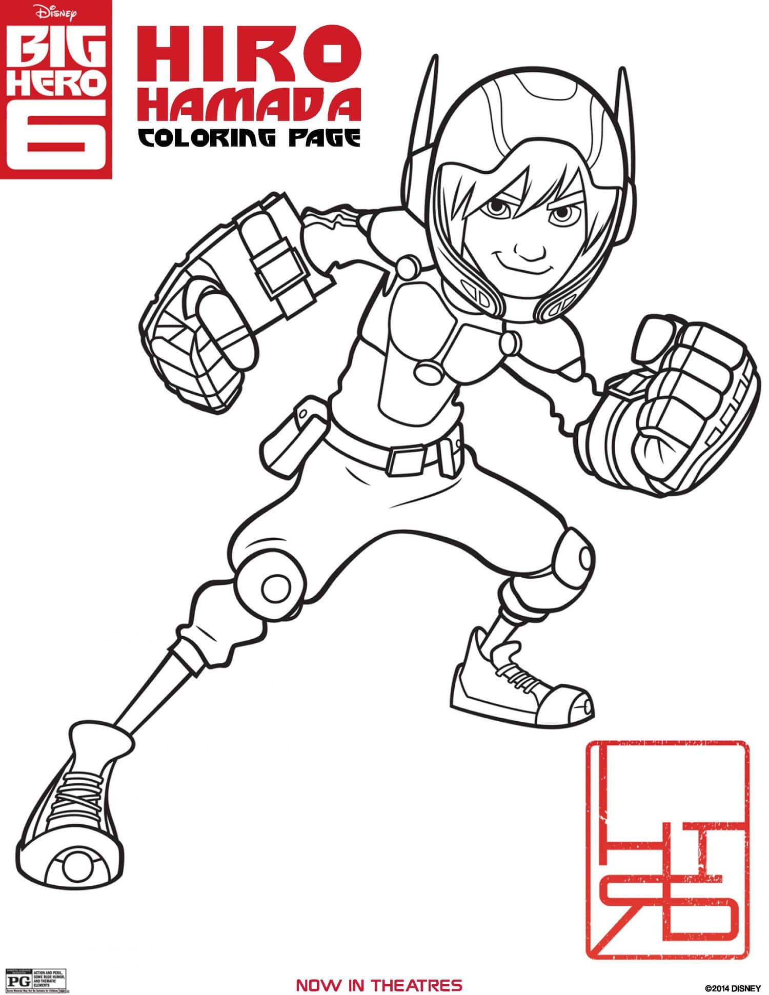 BIG HERO 11 Coloring Pages, Activity Sheets, and Printables