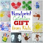 Handprint Calendar (Plus 15 Homemade Holiday Gift Ideas Kids Can Make)