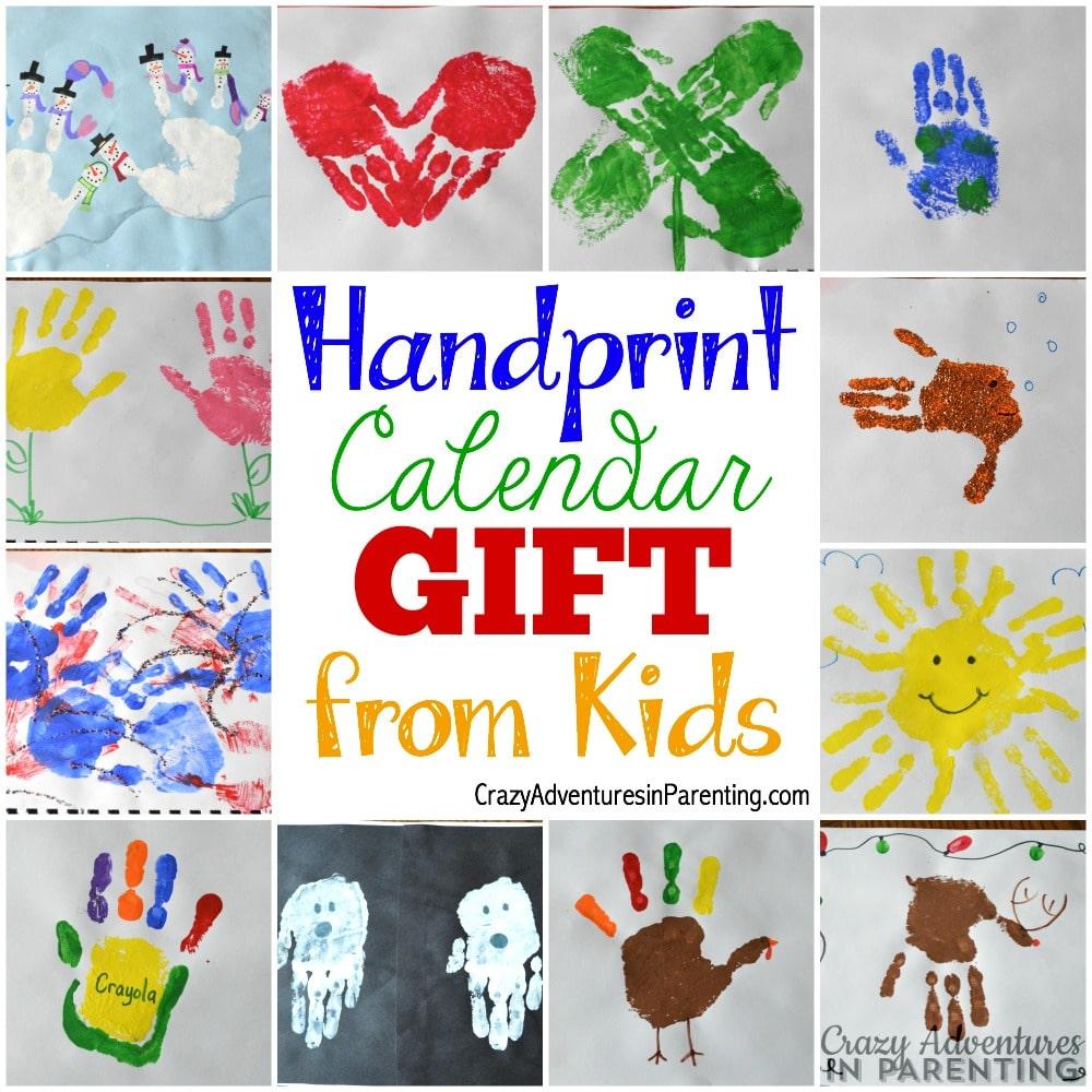Calendar Handprint Art : Handprint calendar homemade gift ideas kids can make