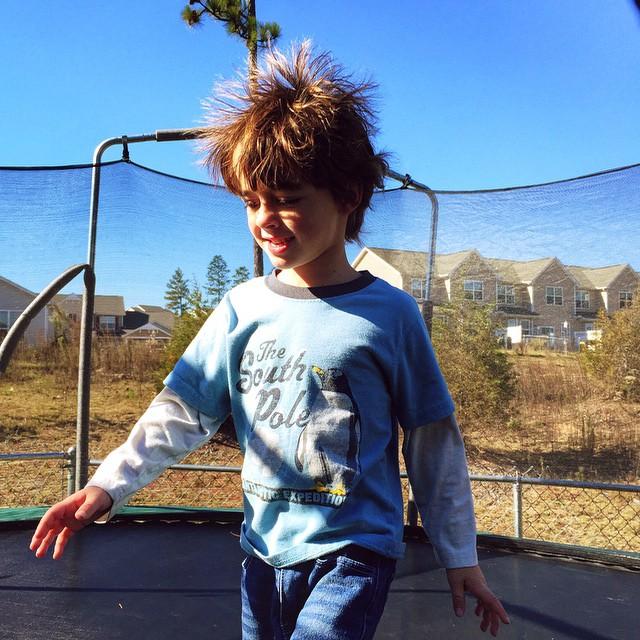 epic trampoline hair