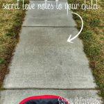 secret love note on the sidewalk