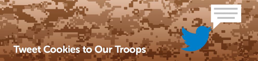 Tweet Cookies to Our Troops