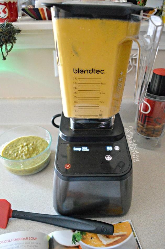 Blendtec preparing Tortilla Soup recipe