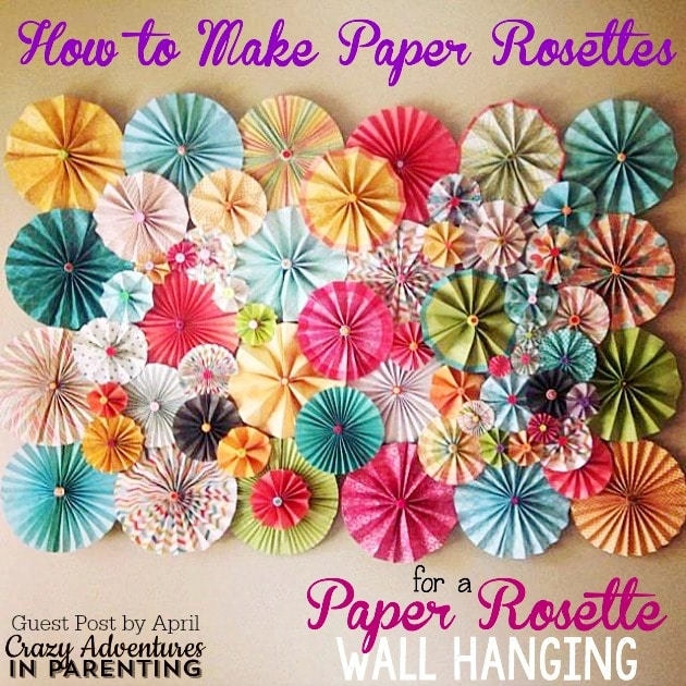 How To Make Wall Decor With Paper : How to make paper rosettes beautiful rosette wall decor