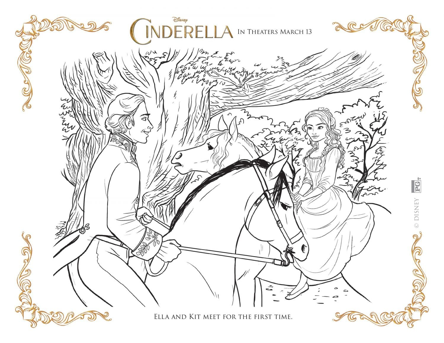 cinderella coloring pages disney periodic tables