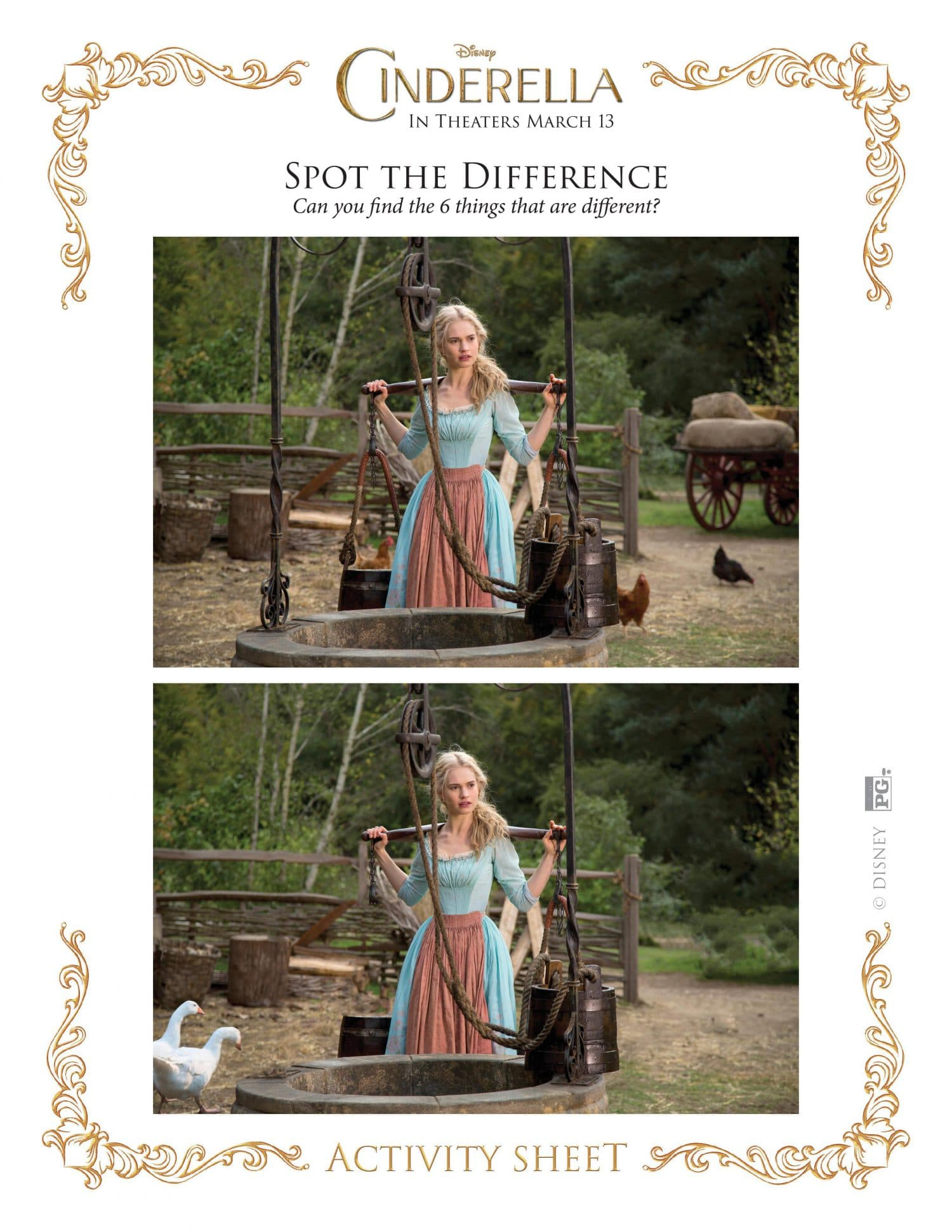 Cinderella spot the difference