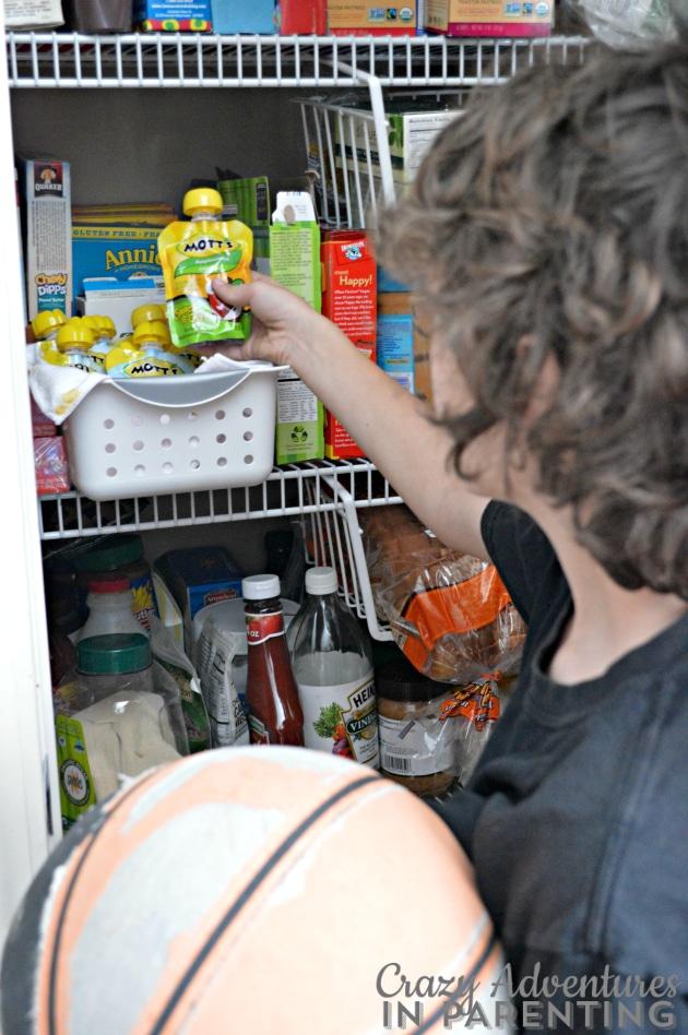 Grabbing Mott's Snack and Go in between basketball games