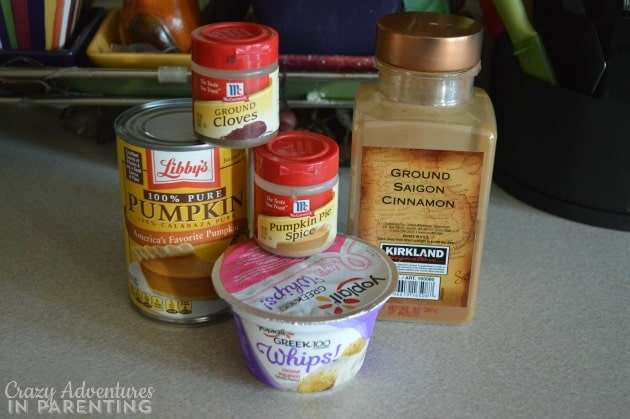 ingredients for pumpkin yogurt dip