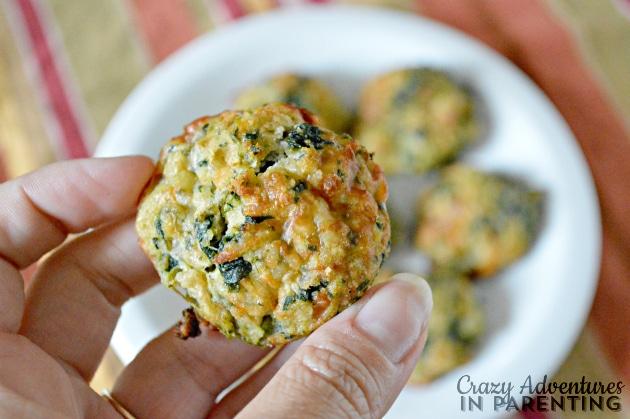 spinach balls closeup