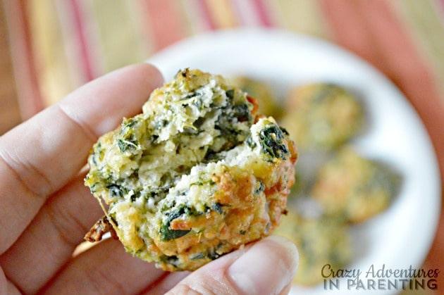 spinach balls inside
