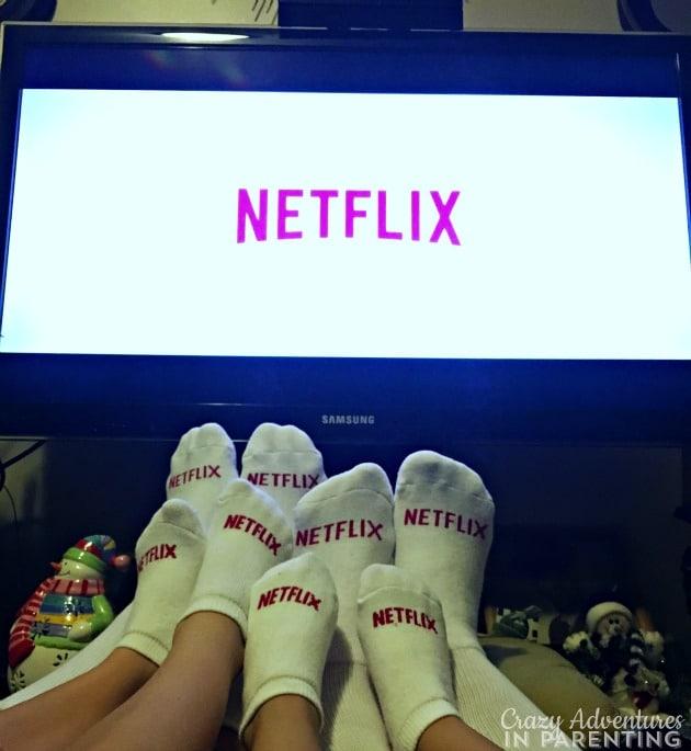 Netflix socks, baby