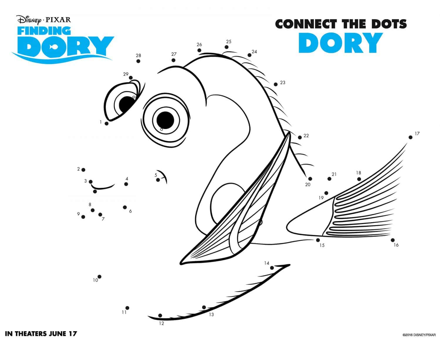 Finding dory coloring pages and activity sheets crazy for Activity coloring pages