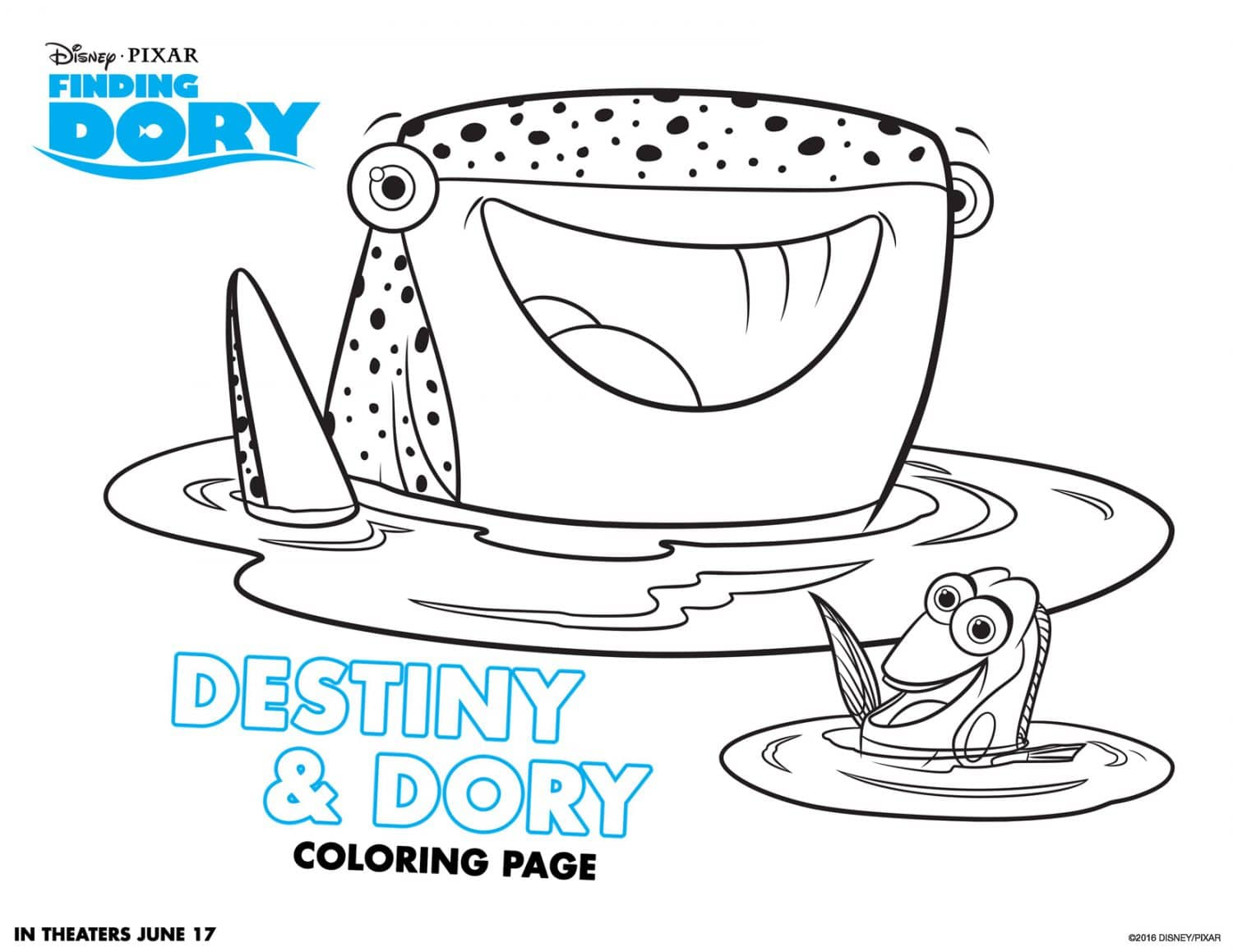 Finding Dory Coloring Page 3
