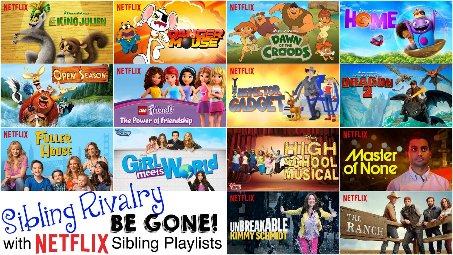 Sibling Rivalry Be Gone with Netflix Siblings Playlists