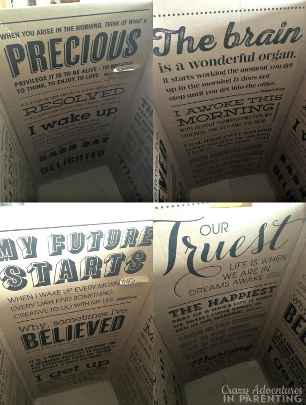 inside of an eve mattress box
