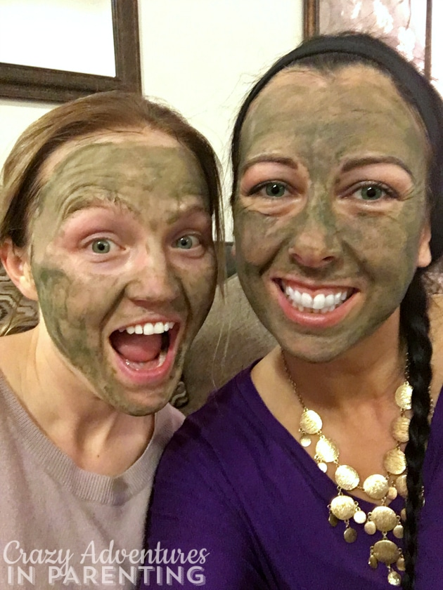 spa night with a friend