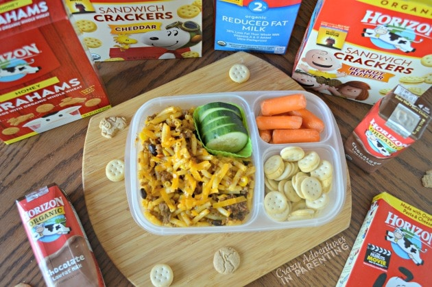 Taco Macaroni School Lunch