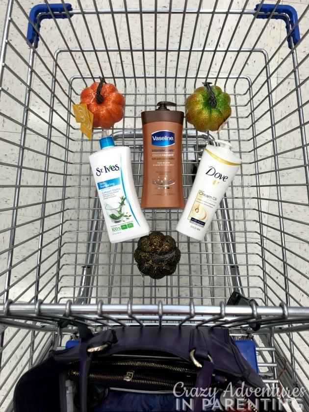 Shopping at Walgreens for lotion