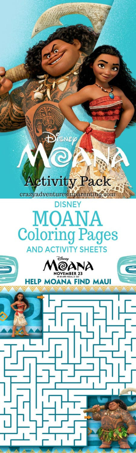 Disney Moana Coloring Pages and Activity Sheets