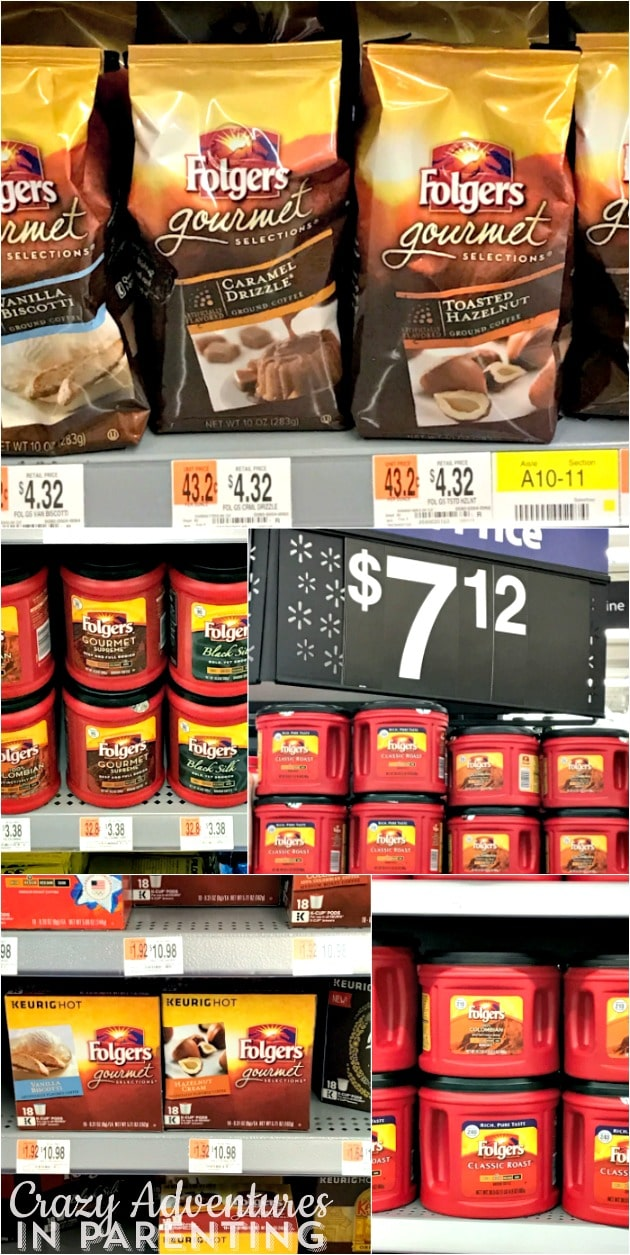 Folgers products at Walmart for Veterans Day