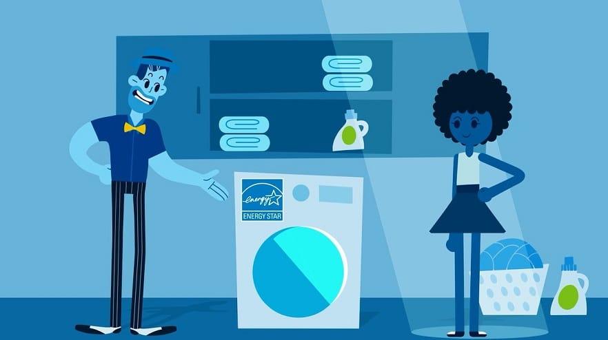 Energy star laundry cartoon
