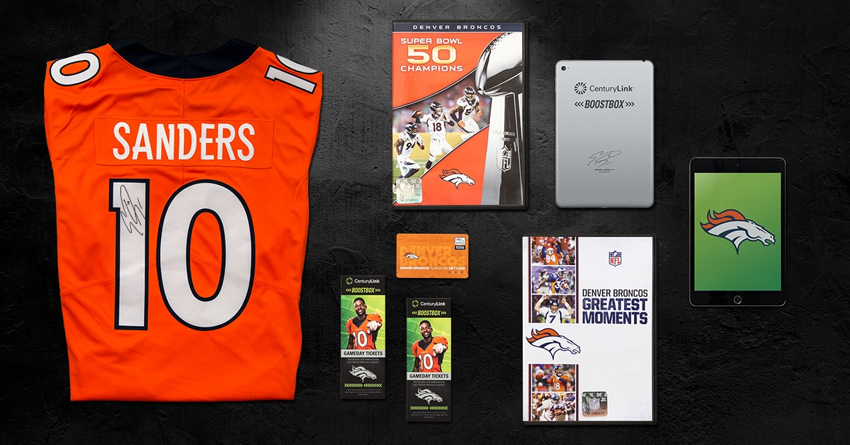 best loved da07b fc0de CenturyLink Boostbox Sweepstakes with The Denver Broncos