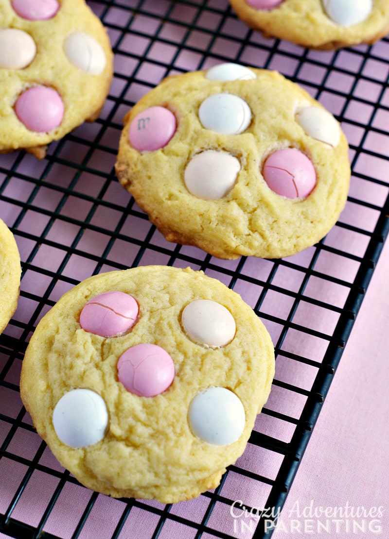 Strawberry Shortcake Pudding Cookies for Valentine's Day