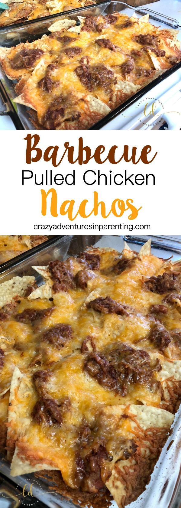 Barbecue Pulled Chicken Nachos