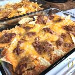 Curly's Barbecue Pulled Pork Nachos ready to eat
