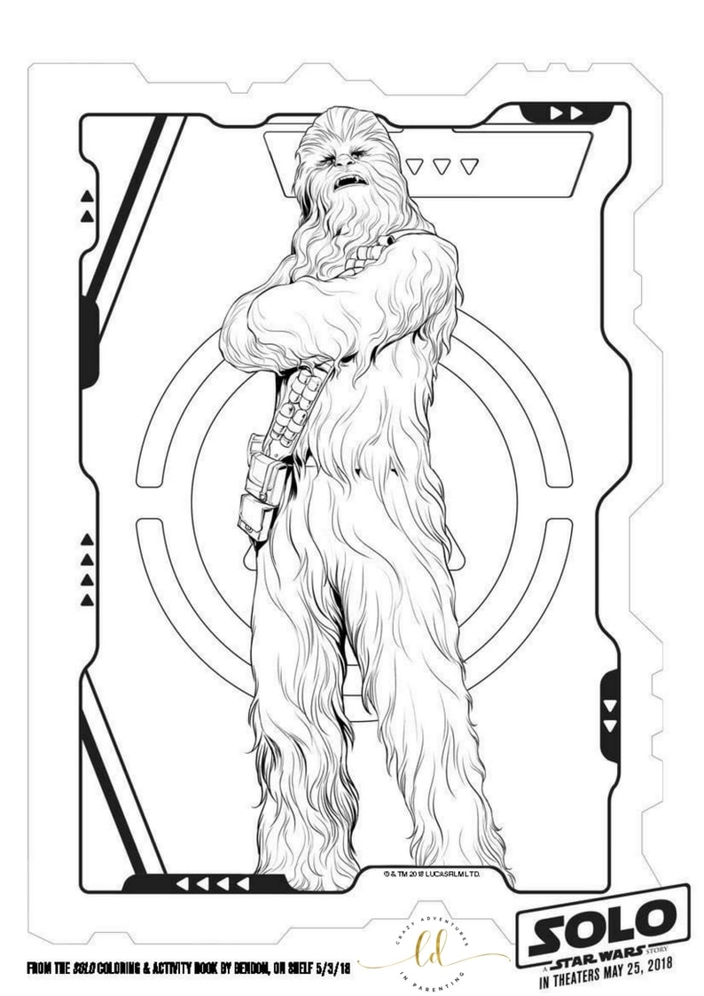 Star Wars Asteroid Coloring Page