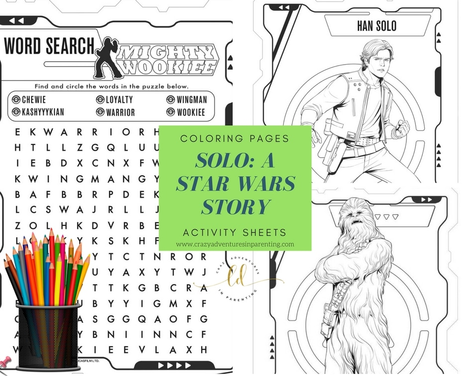 SOLO - A STAR WARS STORY Coloring Pages and Activity Sheets