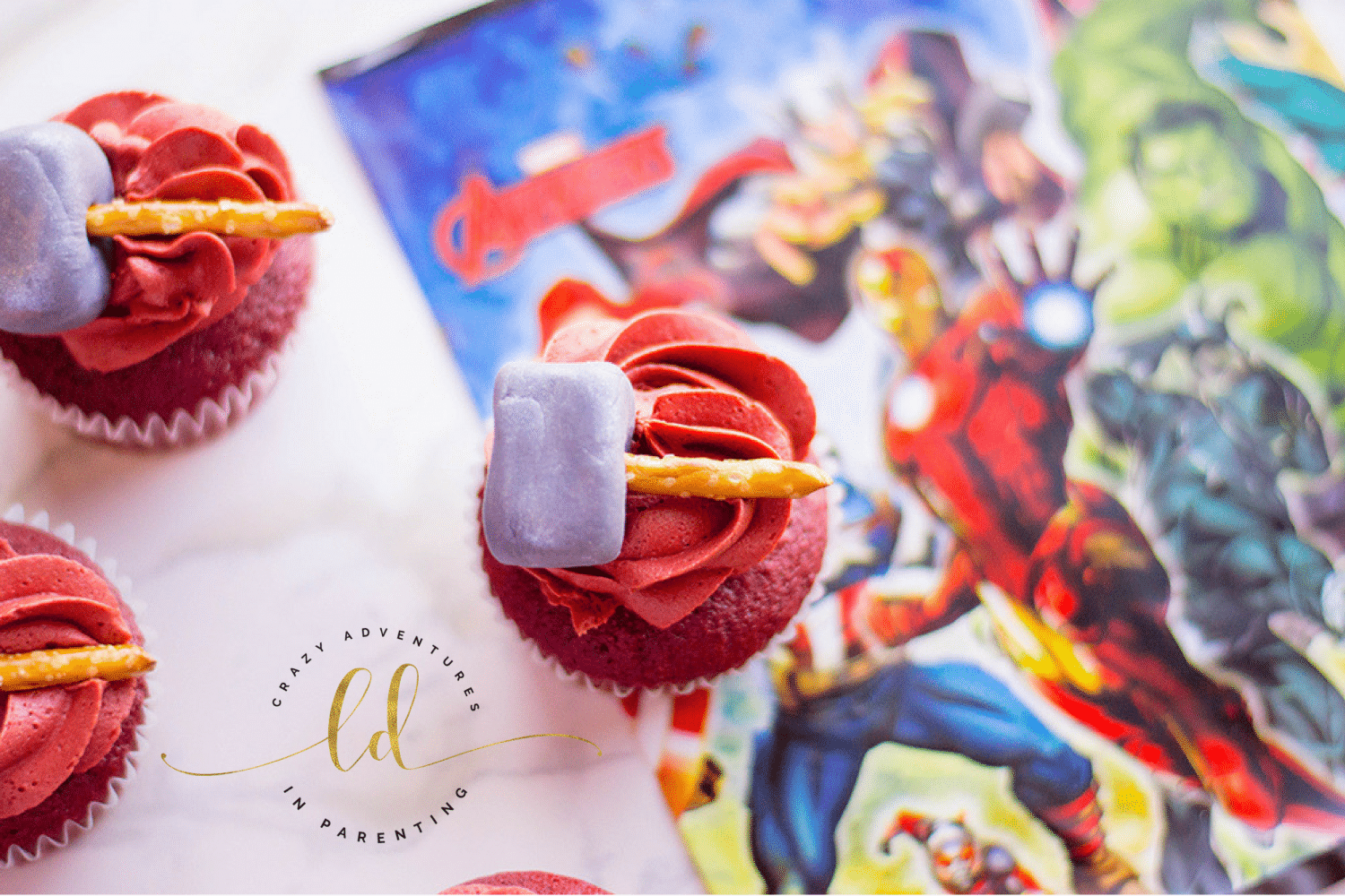 Thor Cupcakes for AVENGERS: INFINITY WAR for party