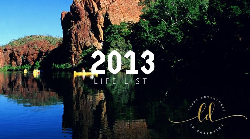 2013 Life List