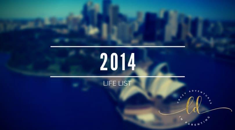 2014 Life List
