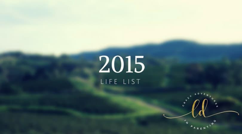 2015 Life List