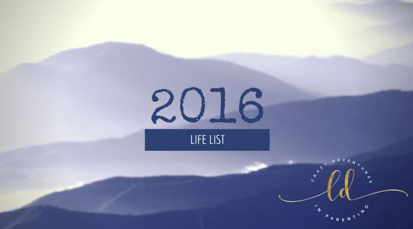 2016 Life List