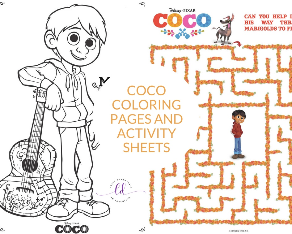 Coco Coloring Pages And Activity Sheets